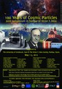 """Victor Franz Hess-Symposium """"100 Years of Cosmic Particles"""""""